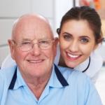 Nurse and Senior Man Portrait
